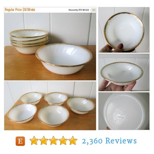 THINKSPRING 5 vintage Fire King milk glass #etsy @artgoodies  #etsy #PromoteEtsy #PictureVideo @SharePicVideo