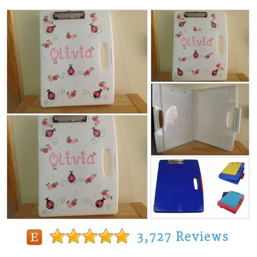 Personalized clipboard storage case- lady #etsy @customcute  #etsy #PromoteEtsy #PictureVideo @SharePicVideo