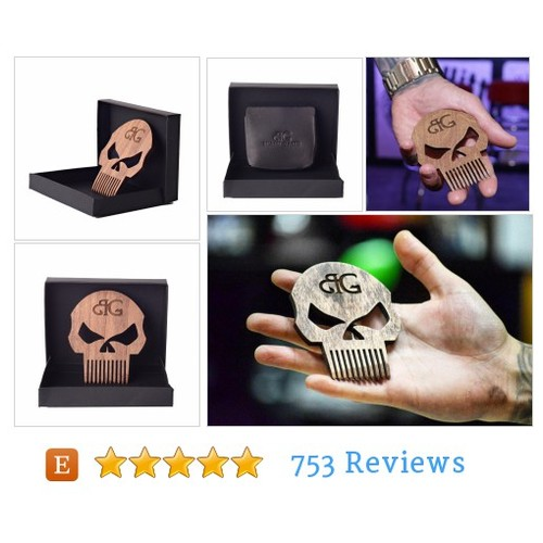 Punisher Skull Beard Comb And Gift Box W/ #etsy @beardgains  #etsy #PromoteEtsy #PictureVideo @SharePicVideo