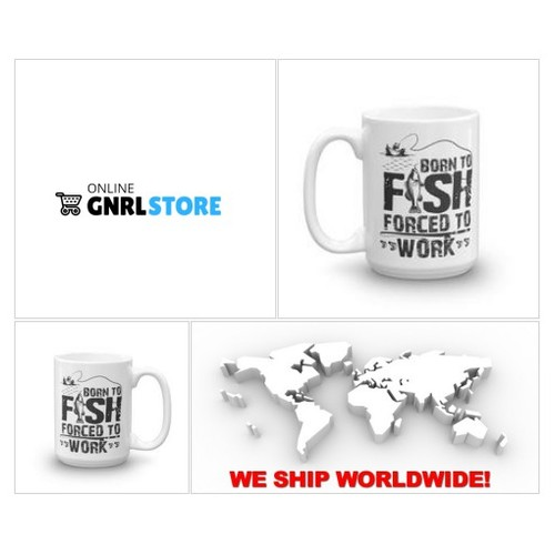 Born to Fish Forced To Work - #Coffee Mug - #summer #angler #river #fishingtrip #lake #flyfishing #bass #food #jigging #spearfishing #sports #boats #diving #wildlife #australia #socialselling #PromoteStore #PictureVideo @SharePicVideo