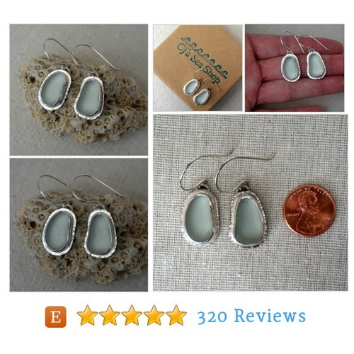 Clear Sea Glass Earrings - Natural Sea #etsy @cjsseashop_etsy  #etsy #PromoteEtsy #PictureVideo @SharePicVideo