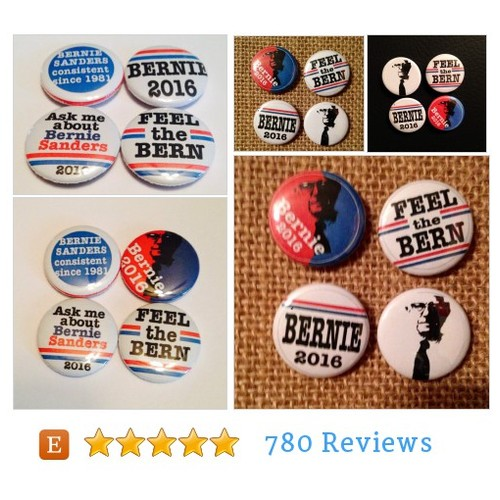 Feel the Bern - Bernie Sanders 2016 #etsy @fetchmybutton  #etsy #PromoteEtsy #PictureVideo @SharePicVideo