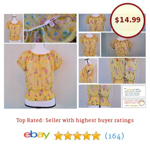 #Bongo Women's Blouse Size M Medium Multi-color floral roses sheer spring date | eBay #Top #Blouse #etsy #PromoteEbay #PictureVideo @SharePicVideo