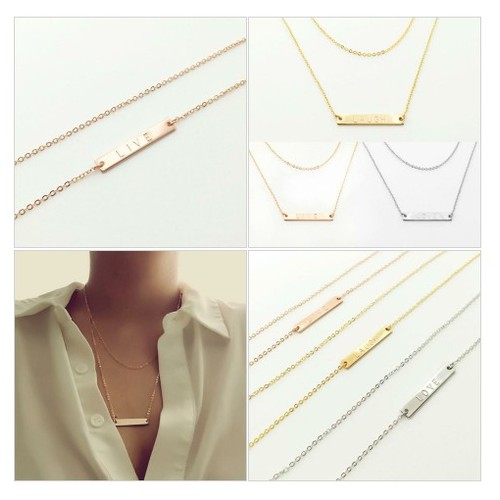 Airy Layered Name Bar Necklace @mignonandmignon  #socialselling #PromoteStore #PictureVideo @SharePicVideo