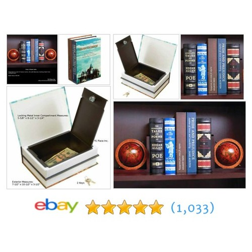 Barska Double (2) Book Diversion Safe Hollow booksafe Lock Secret #ebay @ysplaceinc  #etsy #PromoteEbay #PictureVideo @SharePicVideo