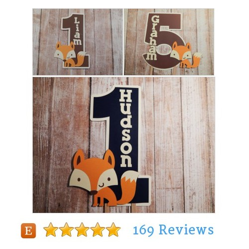 Fox Birthday Cake Topper, Fox Centerpiece, #etsy @opulentowlb  #etsy #PromoteEtsy #PictureVideo @SharePicVideo