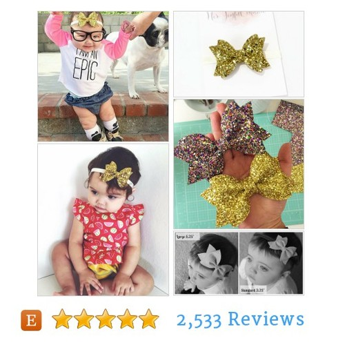 gold glitter bow #Headband @herjoyfulstudio  #etsy #PromoteEtsy #PictureVideo @SharePicVideo