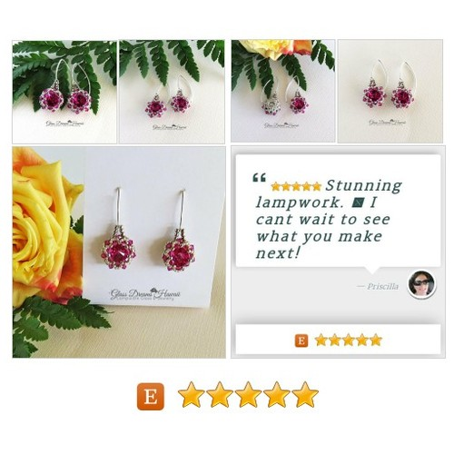 #Swarovski #Crystal #Rivoli #Dangle #Earrings #Beaded #Fuchsia #EarWires #Jewelry #Earring #etsyspecialt #integritytt @etsyclub @TwitchRetweetsU @RGNTeam @SupportSlayer #etsy #PromoteEtsy #PictureVideo @SharePicVideo