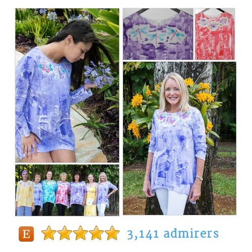 Kauai Hawaii Hand painted tunic #etsyfashion #hawaii #integritytt @MDFDRetweets @Retweet_Lobby @Quickest_RTs @EtsyRT #etsy #PromoteEtsy #PictureVideo @SharePicVideo