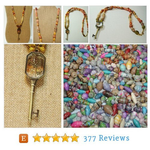 Paper Bead Necklace, Handmade Accessories #etsy @paperbeadboutiq  #etsy #PromoteEtsy #PictureVideo @SharePicVideo