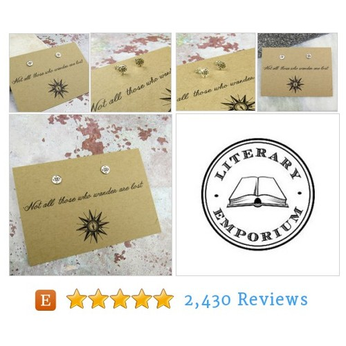 Not All Who Wander are Lost - Compass #etsy @litemporium  #etsy #PromoteEtsy #PictureVideo @SharePicVideo
