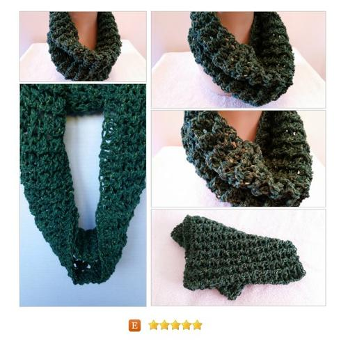 Cowl Outlander Claire Sassenach Crochet Handmade Green #Wrap #Scarf #Accessory #etsy #PromoteEtsy #PictureVideo @SharePicVideo