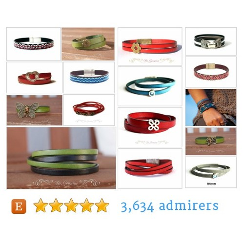 Women Leather Bracelets #etsy shop #womenleatherbracelet @begenuine_  #etsy #PromoteEtsy #PictureVideo @SharePicVideo