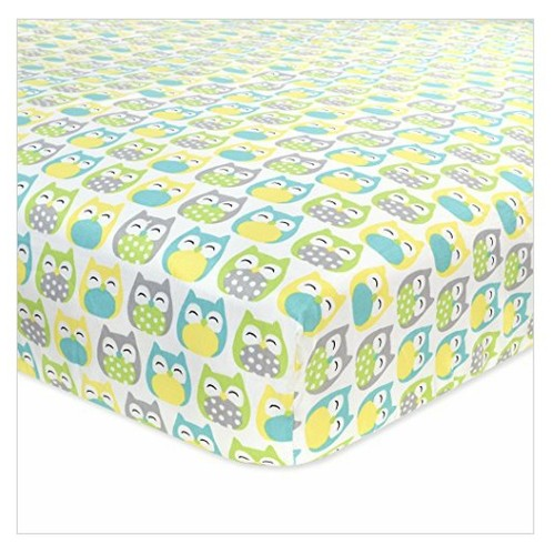 Carter's Cotton Fitted Crib Sheet, Owl/Grey/Yellow/Green/Blue #socialselling #PromoteStore #PictureVideo @SharePicVideo