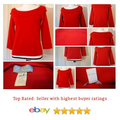 U-Knit Women's #Sweater Size Small S Red 100% Cashmere Scoop Neckline Date Work | eBay #UKnit #ScoopNeck #etsy #PromoteEbay #PictureVideo @SharePicVideo