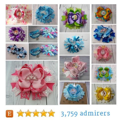 Princesses Bows #etsy shop #princessesbow @bysilkhands  #etsy #PromoteEtsy #PictureVideo @SharePicVideo