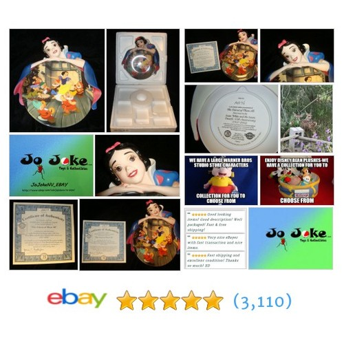 DISNEY SNOW WHITE SCULPTURED PLATE-NUMBERED-BRADFORD-CT  | eBay #etsy #PromoteEbay #PictureVideo @SharePicVideo