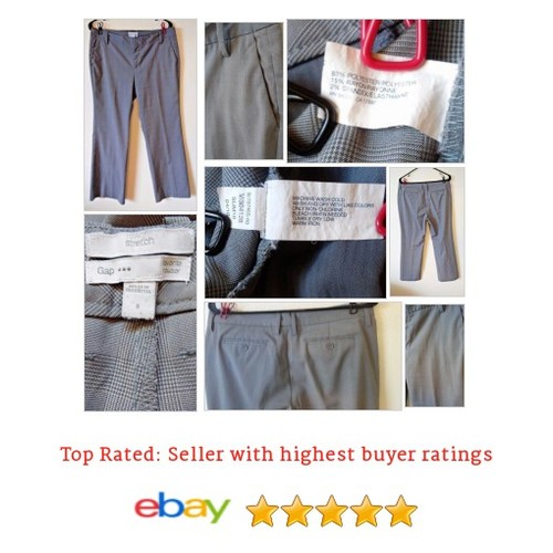 "#GAP Favorite Plaid Gray Trousers 30"" Inseam Medium Stretch #Pant #DressPant #etsy #PromoteEbay #PictureVideo @SharePicVideo"