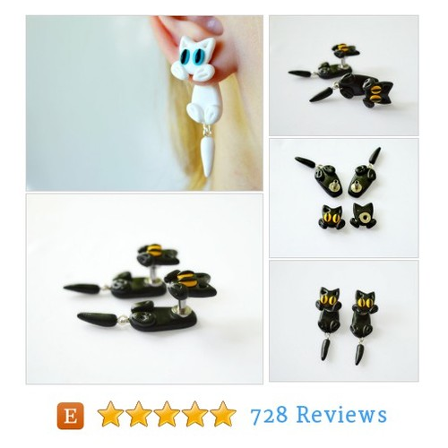 cat dangling Plugs Animal Gauge dangle #etsy @jewelrypleasure  #etsy #PromoteEtsy #PictureVideo @SharePicVideo