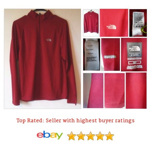The North Face Men's Shirt Red Long Sleeve Layering Piece 1/4 Zip Pull Over | #Pullover #CasualShirt #TheNorthFace #etsy #PromoteEbay #PictureVideo @SharePicVideo