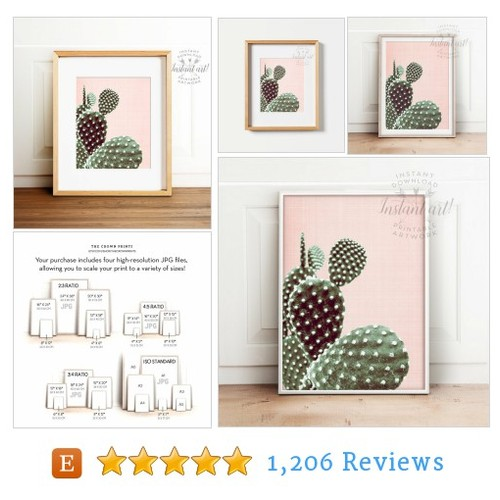Cactus poster, PRINTABLE art, Cactus art, #etsy @crown_prints  #etsy #PromoteEtsy #PictureVideo @SharePicVideo
