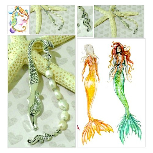 PEARL MERMAID Seahorse Charm BOOKMARK / Handcrafted Pisces Sea Theme Beaded Metal Hook Bookmark  #etsyspecialt  #SpecialTGIF       @SGH_RTs  @craftshout @PS4CoDFAs #readbooks  #charmbookmark #piecesbookmark #pearlbookmark  #mermaidbookmark #etsy #PromoteEtsy #PictureVideo @SharePicVideo