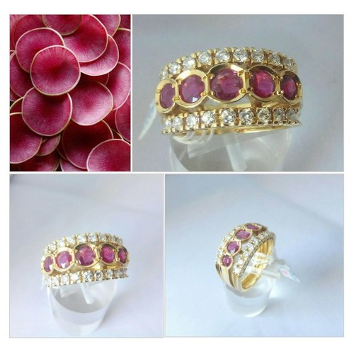 Vintage 18k Yellow Gold Ruby - Rubies and Diamonds Band  Ring Size 6.5 - Engagement Ring - Anniversary - Wedding #etsyspecialt  #SpecialTGIF      @RTFAMDNR    @FatalRTs   @SGH_RTs #fashionjewelry #rubyanddiamonds #rubyring #etsy #PromoteEtsy #PictureVideo @SharePicVideo