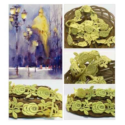 Vintage Embroidered Yellow Rose Trim  Vintage Lace Trim  Sweet Flower Flat Braid - Fancy Ribbon Sewing Trim  #etsyspecialt #SpecialTGIF #Specialtoo  #TMTinsta     @SaucyRTs   @RETWEETDNR  @FatalRTs @SGH_RTs  #vintagetrim #yellowrosetrim #embroideredtrim #etsy #PromoteEtsy #PictureVideo @SharePicVideo