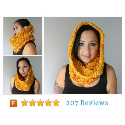 Amber Hand Dyed Pure Merino Cozy Cowl, #etsy @144stitches  #etsy #PromoteEtsy #PictureVideo @SharePicVideo