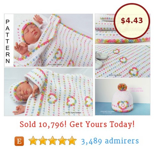 Jelly Tots Crochet baby Blanket Pattern  @lifesabeach526 #etsy https://SharePicVideo.com?ref=PostVideoToTwitter-lifesabeach526 #etsy #PromoteEtsy #PictureVideo @SharePicVideo