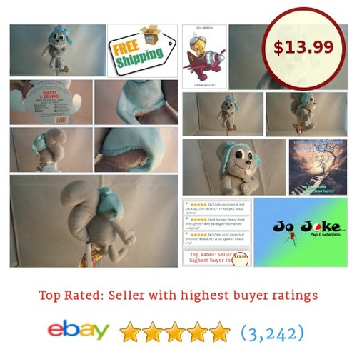 BULLWINKLE&ROCKY-ROCKY THE FLYING SQUIRREL PLUSH-9 INCH-NEW/TAGS-2000-RARE FIND | eBay  #etsy #PromoteEbay #PictureVideo @SharePicVideo