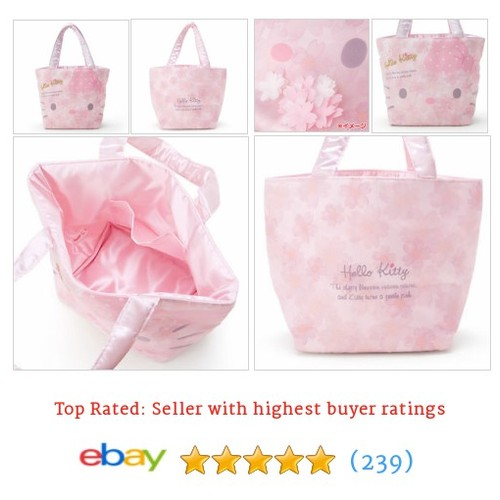 New! Hello Kitty Bag Cherry Blossom Pink Japan Sanrio F/S #ebay @niginigi000  #etsy #PromoteEbay #PictureVideo @SharePicVideo