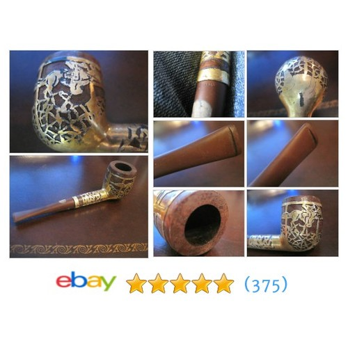 Vintage Smoking Pipe, Sterling with Gold Plate #ebay @justsold2002 #sellonebay  #etsy #PromoteEbay #PictureVideo @SharePicVideo