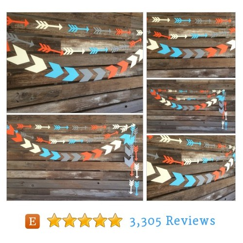Tribal Party Arrows Garland - Wild One #etsy @blueoakcreation  #etsy #PromoteEtsy #PictureVideo @SharePicVideo