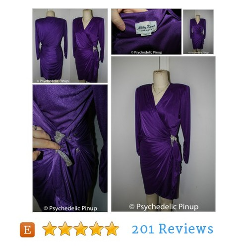 1980s 80s Dress, Sexy Wiggle Grape Purple #etsy @morningstar5784  #etsy #PromoteEtsy #PictureVideo @SharePicVideo