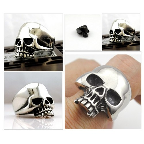 Bague Demi Skull ( 2 couleurs disponibles )( T7 à T13 ) @cecilezizzo  #shopify #PromoteStore #PictureVideo @SharePicVideo