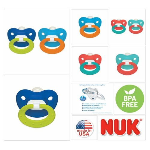 # NUK# Juicy# Puller# Silicone #Pacifier in /#Assorted# Colors, 6-18 Months Pacifiers : Baby #socialselling #PromoteStore #PictureVideo @SharePicVideo