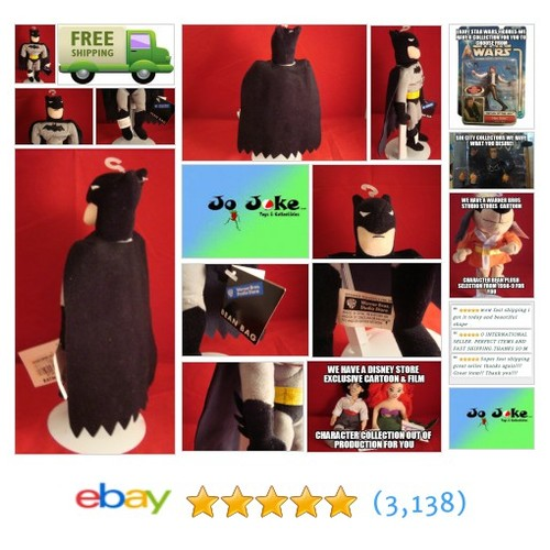 WARNER BROS STUDIO STORE-BATMAN- INCHES BEAN PLUSH-CAPE-THE BATMAN-NEW/TAGS-1999 | eBay #WARNERBROSSTUDIOSTORE #etsy #PromoteEbay #PictureVideo @SharePicVideo