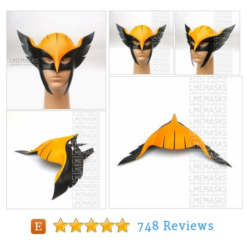 Hawkgirl Leather Mask Justice League #etsy @lmemasks  #etsy #PromoteEtsy #PictureVideo @SharePicVideo