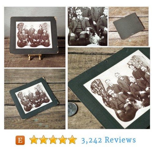 1890s Photograph - Men with Dog - Sepia #etsy @thelostrooms  #etsy #PromoteEtsy #PictureVideo @SharePicVideo