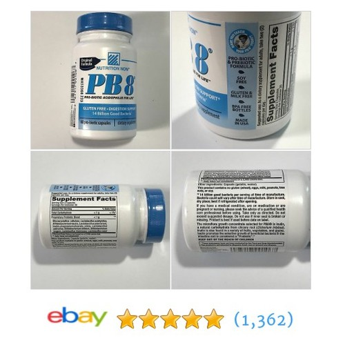 PB 8 Pro-Biotic Acidophilus Nutrition Now 60 capsules Digestion Support  | eBay #etsy #PromoteEbay #PictureVideo @SharePicVideo