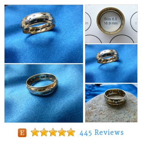 14k Gold 7 Diamond Eternity Band - Size 6.5 #etsy @chic_avantgarde  #etsy #PromoteEtsy #PictureVideo @SharePicVideo