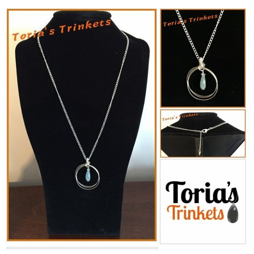 Aquamarine silver and circles necklace @toriastrinkets https://SharePicVideo.com?ref=PostVideoToTwitter-toriastrinkets #socialselling #PromoteStore #PictureVideo @SharePicVideo