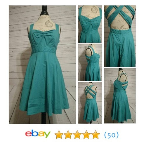 Green Pinup #Dress by Moda  @twiceasnicetrad #ebay https://SharePicVideo.com?ref=PostVideoToTwitter-twiceasnicetrad #etsy #PromoteEbay #PictureVideo @SharePicVideo