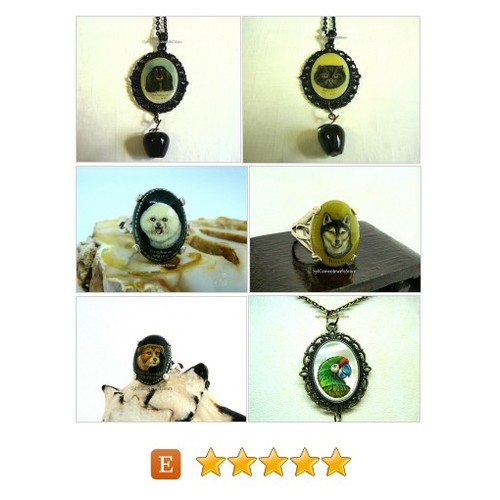 #Animal #Cameos Jewelry #Collectibles  #SylCameoJewelsStore #Etsyshop #HandPaintedCameo #dog #cat #parrot #EtsyTeamUnity #SpecialT #etsyspecialt @etsyRT  #etsy #PromoteEtsy #PictureVideo @SharePicVideo