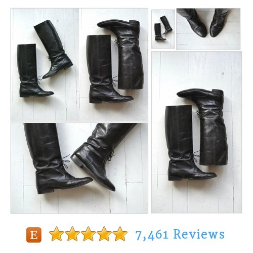 Laced Rider boots | vintage black riding #etsy @deargolden https://www.SharePicVideo.com/?ref=PostPicVideoToTwitter-deargolden #etsy #PromoteEtsy #PictureVideo @SharePicVideo