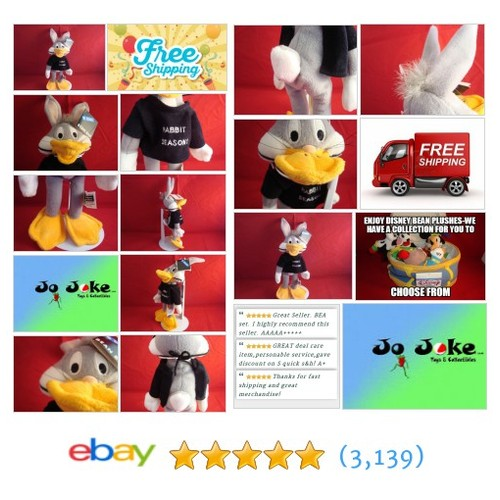 WARNER BROS STUDIO STORES BUGS AS DAFFY-RABBIT SEASON BEAN PLUSH-NEW-TAGS-RARE!! | eBay #WARNERBROSSTUDIOSTORE #etsy #PromoteEbay #PictureVideo @SharePicVideo