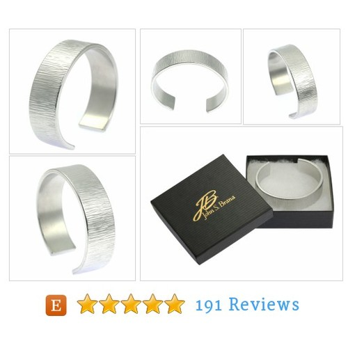 Men's Handmade Chased Aluminum Cuff - #etsy @johnsbrana  #etsy #PromoteEtsy #PictureVideo @SharePicVideo