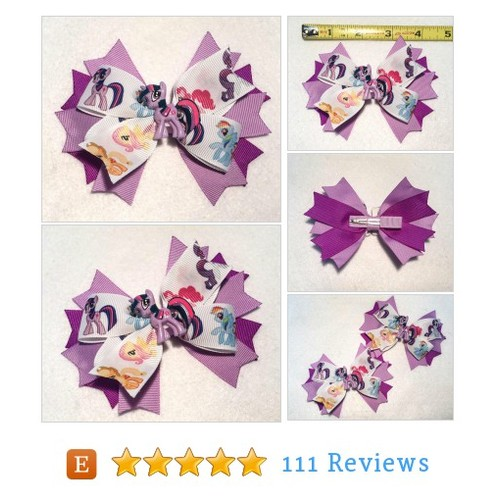 Twilight Sparkle Hair Bow - My Little Pony #etsy @itsespecially4u https://www.SharePicVideo.com/?ref=PostPicVideoToTwitter-itsespecially4u #etsy #PromoteEtsy #PictureVideo @SharePicVideo