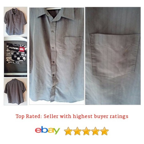 Tony Hawk Shirt Gray Button Short Sleeve Size Medium Wrinkle Resistant | eBay #TonyHawk #ButtonFront #CasualShirt #etsy #PromoteEbay #PictureVideo @SharePicVideo